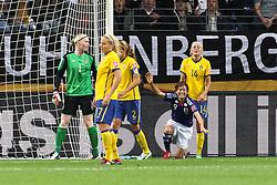 13.07.2011, Commerzbank Arena, Frankfurt, GER, FIFA Women Worldcup 2011, Halbfinale,  Japan (JPN) vs. Schweden (SWE), im Bild.Torjubel / Jubel  nach dem 1:1 durch Nahomi Kawasumi (Japan).. // during the FIFA Women´s Worldcup 2011, Semifinal, Japan vs Sweden on 2011/07/13, Commerzbank Arena, Frankfurt, Germany.   EXPA Pictures © 2011, PhotoCredit: EXPA/ nph/  Mueller       ****** out of GER / CRO  / BEL ******