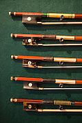 Bows made by Joseph Regh, of Regh Violins. Regh was a physicist who worked for IBM, and brings his scientific training to his violin and bow making.