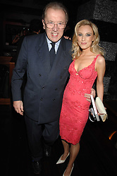 SIR DAVID FROST and IMOGEN LLOYD WEBBER at a party to celebrate her 30th birthday and the launch of her Single Girl's Guide held at Vilstead, 9 Swallow Street, London on 27th March 2007.<br />