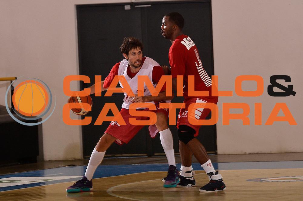 Davide Pascolo <br /> EA7 Emporio Armani Olimpia Milano allenamento<br /> Lega Basket Serie A 2016/2017<br /> Bormio 25/08/2016<br /> Foto Ciamillo-Castoria