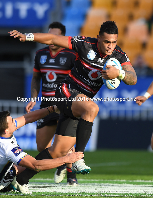 Ken Maumalo. NSW Cup. Vodafone Warriors v Wentworthville, NRL Rugby League. Mt Smart Stadium, Auckland, New Zealand. Saturday 3 June 2016. © Copyright Photo: Andrew Cornaga / www.Photosport.nz