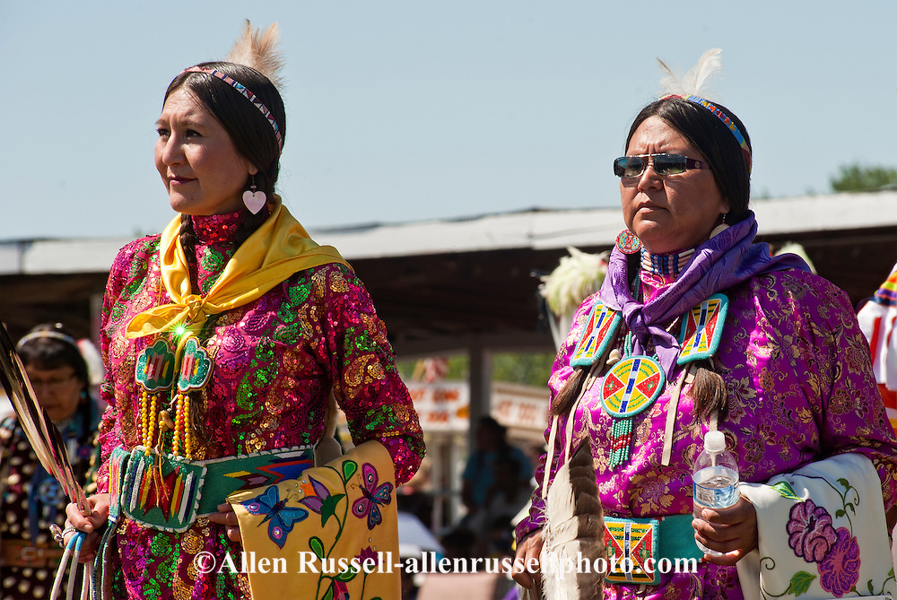 Traditional dancers, Crow Fair, powwow, Crow Indian Reservation, Montana