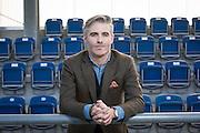 30.03.2016; Niederhasli; Fussball Super League - GCZ;<br /> Scout Paul Bollendorf waehrend eines Interview (Raphael Huenerfauth/freshfocus)