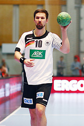 09.01.2015, Rothenbach Halle, Kassel, GER, Handball Testspiel, Deutschland vs Island, im Bild Fabian Wiede (Deutschland)Deutschland vs Island --- Handball --- Laenderspiel --- 09.01.2016 Foto: Rene Weiss/Eibner-Pressefoto // during the International Handball Friendly Match between Germany vs Iceland at the Rothenbach Halle in Kassel, Germany on 2015/01/09. EXPA Pictures &copy; 2016, PhotoCredit: EXPA/ Eibner-Pressefoto/ Weiss<br /> <br /> *****ATTENTION - OUT of GER*****