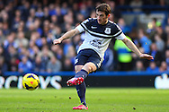 Leighton Baines of Everton during the Barclays Premier League match at Stamford Bridge, London<br /> Picture by David Horn/Focus Images Ltd +44 7545 970036<br /> 22/02/2014