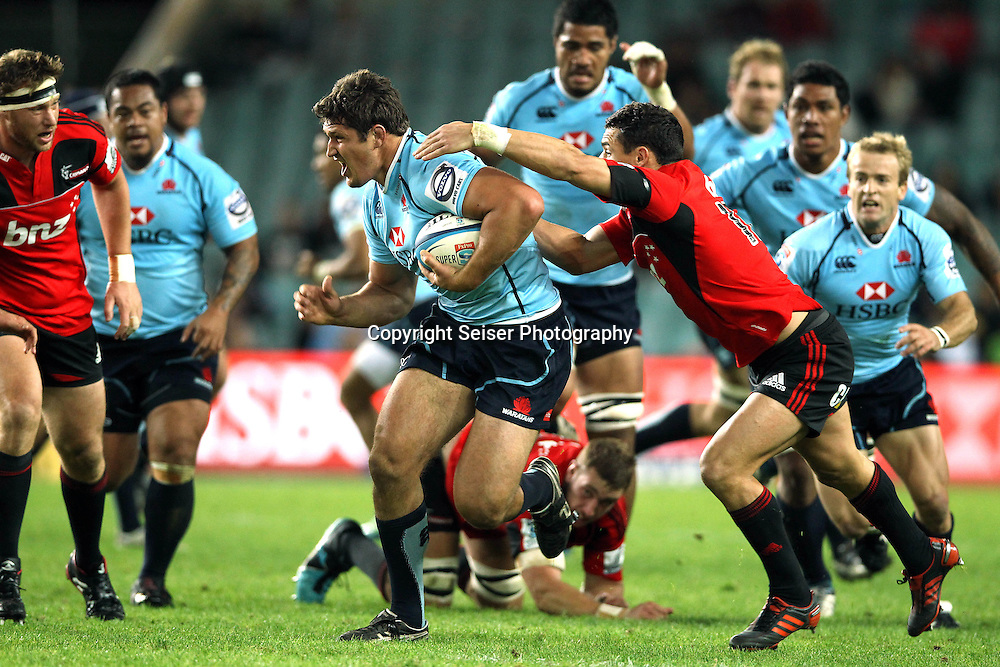 Jeremy Tilse - NSW Waratahs v Canterbury Crusaders. Sport Rugby Union Provincial Representative Super Rugby. Allianz Stadium SFS. 29 April 2012. Photo by Paul Seiser/Seiser Photography