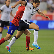 Carli Lloyd, USA,  in action during the U.S. Women Vs Korea Republic friendly soccer match at Red Bull Arena, Harrison, New Jersey. USA. 20th June 2013. Photo Tim Clayton