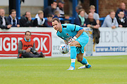 New Goalkeeper for AFC Wimbledon Goalkeeper Ryan Clarke (26) during the Pre-Season Friendly match between Dover Athletic and AFC Wimbledon at Crabble Athletic Ground, Dover, United Kingdom on 12 July 2016. Photo by Stuart Butcher.