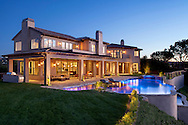 Hill top Estate with LED lighting in pool.  Spectacular views of San Fernando Valley and Los Angleles, CA