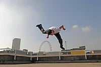 Free Runner at South Bank, London