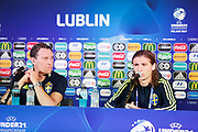 LUBLIN, POLEN 2017-06-18<br /> under Sveriges U21 landslags presskonferens p&aring; Arena Lublin den 18 juni, 2017.<br /> Foto: Nils Petter Nilsson/Ombrello<br /> Fri anv&auml;ndning f&ouml;r kunder som k&ouml;pt U21-paketet.<br /> Annars Betalbild.<br /> ***BETALBILD***
