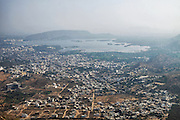 Aeriel View of Udaipur from Monsoon Palace