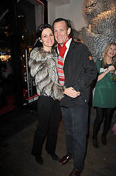 BARTLE & CLAUDIA BULL at a collective exhibition of work entitles Bling Bling held at Opera Gallery, 134 New Bond Street, London on 15th December 2010.  Proceeds from the evening were raised for The Prince's Foundation for Children & the Arts.