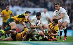 Ben Morgan of England scores the opening try of the match - Photo mandatory by-line: Patrick Khachfe/JMP - Mobile: 07966 386802 29/11/2014 - SPORT - RUGBY UNION - London - Twickenham Stadium - England v Australia - QBE Internationals