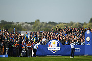 Tiger Woods (Ua) during the saturday morning fourballs session of Ryder Cup 2018, at Golf National in Saint-Quentin-en-Yvelines, France, September 29, 2018 - Photo Philippe Millereau / KMSP / ProSportsImages / DPPI