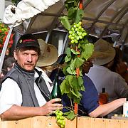 wine farmer at a  parade during a Wine festival in Saarburg, Rheinland Pfalz