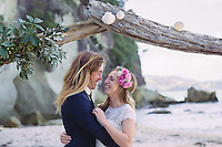 miriam & dan's coromandel wedding photos at lonely bay cooks beach by felicity jean photography cool ideas for your wedding 2016/2017 flowers venue's nibbles dresses sign boards dressing up your pets props for photos ceremony styling photo booths bands cakes and more