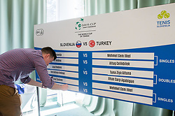 Official Draw of Davis Cup 2018 Europe/Africa zone Group II between Slovenia and Turkey, on April 6, 2018 in Portoroz / Portorose, Slovenia. Photo by Vid Ponikvar / Sportida
