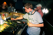 DJ Gilles Peterson and Rob Galliano in a club