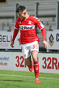Dan Ward of Middlesbrough (35) during the EFL Trophy group stage match between Burton Albion and U21 Middlesbrough at the Pirelli Stadium, Burton upon Trent, England on 7 November 2018.