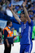 Chelsea Defender John Terry (26) waves to the crowd during the Premier League match between Chelsea and Sunderland at Stamford Bridge, London, England on 21 May 2017. Photo by Andy Walter.