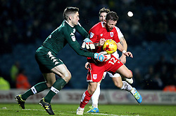 Matty Taylor of Bristol City beats Robert Green of Leeds United to the ball - Mandatory by-line: Robbie Stephenson/JMP - 14/02/2017 - FOOTBALL - Elland Road - Leeds, England - Leeds United v Bristol City - Sky Bet Championship