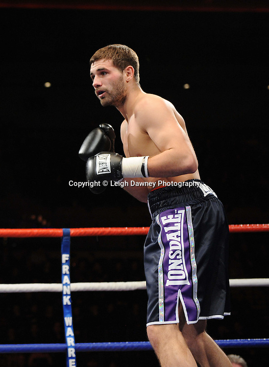 """Joe Selkirk defeats Steve O'Meara (pictured) at the Echo Arena, Lverpool,11th December 2010,Frank Warren.tv Promotions """"Return Of The Magnificent Seven"""" © Photo Leigh Dawney"""