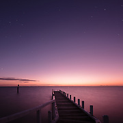Jetty at Point Richards, Portarlington at sunset.