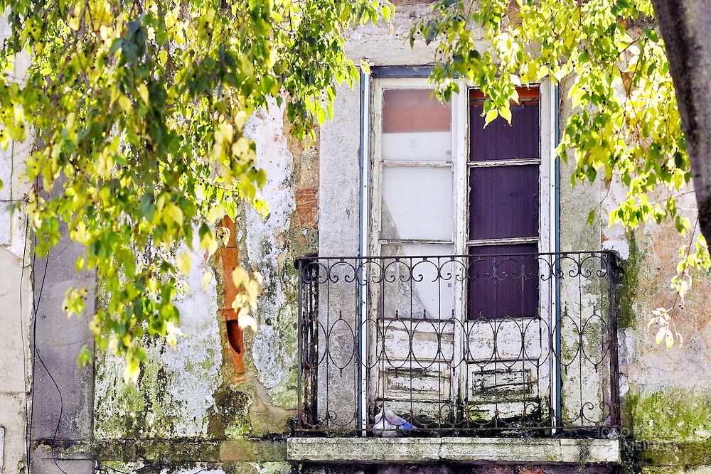 Window of an old building at Alfama, Lisbon's old town