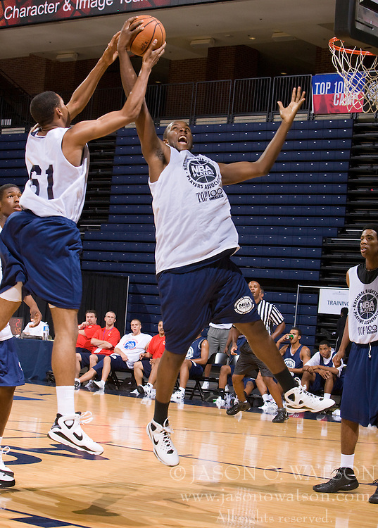 PF Marshawn Powell (Charlottesville, VA / The Miller School).  The NBA Player's Association held their annual Top 100 basketball camp at the John Paul Jones Arena on the Grounds of the University of Virginia in Charlottesville, VA on June 19, 2008