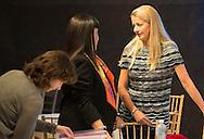 NEW  YORK - Queen Maxima and King Willem Alexander and en Secretary General Ban Ki-moon hands over the Financial  inclusion rapport NEW YORK . NEW YORK - (VLNR) Koningin Maxima, koning Willem-Alexander, VN-secretaris-generaal Ban Ki-moon, premier Mark Rutte en premier Mike Eman van Aruba tijdens een ontmoeting bij de Verenigde Naties.  Koning Maxima overhandigt het jaarverslag over haar VN-werk aan VN-secretaris-generaal Ban Ki-moon. COPYRIGHT ROBIN UTECHT