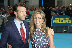 © Licensed to London News Pictures. 14/08/2013, UK. Jason Sudeikis; Jennifer Aniston, We're The Millers UK film premiere, Odeon West End cinema Leicester Square, London UK, 14 August 2013. Photo credit : Richard Goldschmidt/Piqtured/LNP