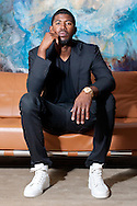 Dexter Fowler in the private suites lobby of the Four Season for Sharp Magazine.