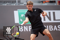 May 14, 2019 - Rome, Italy - David Goffin (BEL) in action against Stan Wawrinka (SUI) during Internazionali BNL D'Italia  Italian Open at the Foro Italico, Rome, Italy on 14 May 2019. (Credit Image: © Giuseppe Maffia/NurPhoto via ZUMA Press)