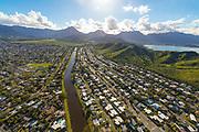 Aerial, Kailua, Kailua, Oahu, Hawaii