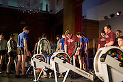 Bayswater, London,  Team get some early training before competing in the Snowdon Rowing Challenge, on Friday   05/03/2010  at the Porchester Hall London GREAT BRITAIN.  [Mandatory Credit. Peter Spurrier/Intersport Images]