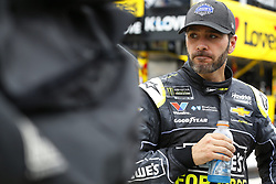 May 6, 2018 - Dover, Delaware, United States of America - Jimmie Johnson (48) hangs out on pit road during a rain delay for the AAA 400 Drive for Autism at Dover International Speedway in Dover, Delaware. (Credit Image: © Chris Owens Asp Inc/ASP via ZUMA Wire)
