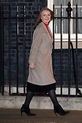 © Licensed to London News Pictures. 07/01/2019. London, UK. Chief Secretary to the Treasury Liz Truss arriving in Downing Street to attend a drinks reception in Number 10. British Prime Minister Theresa May is currently trying to persuade MPs to back her Brexit withdrawal deal. MPs will be debating the issue this week, with the postponed vote taking place on Tuesday 15th January. Photo credit : Tom Nicholson/LNP