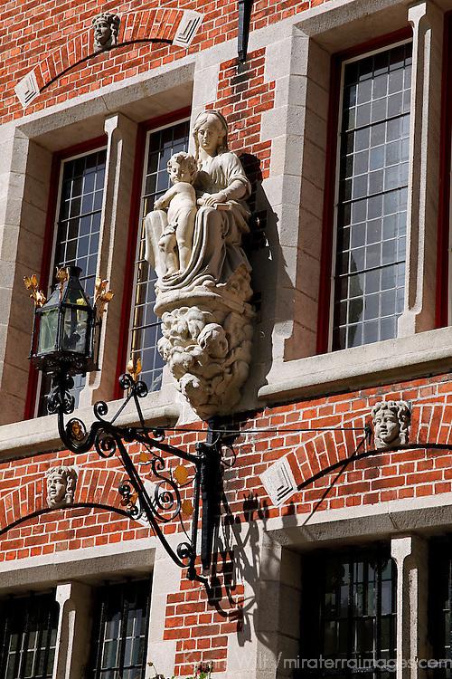 Europe, Belgium, Brugges. Architectural detail of Brugges.