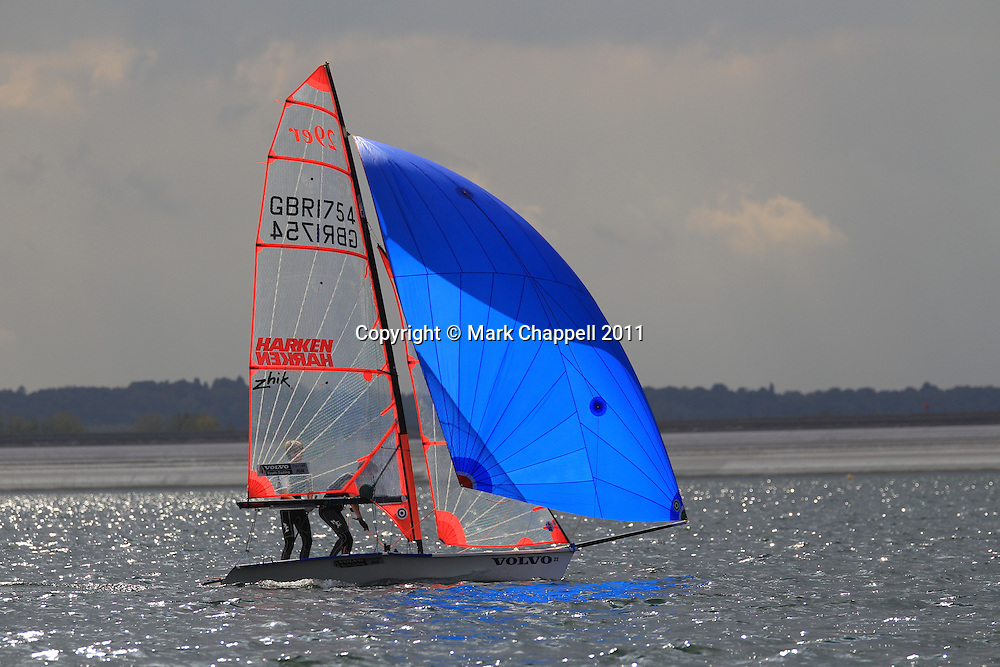 49er class  National sailing competition at Datchet Water. Saturday 24  September  2011.  London, UK.<br /> <br /> Photo Credit: Mark Chappell<br /> <br /> &copy; Mark Chappell 2011. <br /> All rights reserved, see instructions.