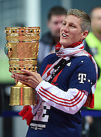 FUSSBALL  DFB POKAL FINALE  SAISON 2013/2014 Borussia Dortmund - FC Bayern Muenchen     17.05.2014 Bastian Schweinsteiger (FC Bayern Muenchen) jubelt