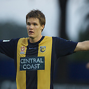 Nigel Boogaard in action during the Central Coast Mariners V Brisbane Roar A-League match at Bluetongue Stadium, Gosford, Australia, 19 December 2009. Photo Tim Clayton