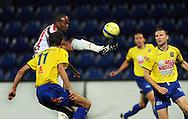 05-09-2008 Voetbal:KVC Westerlo:Willem II: Westerlo<br /> Ibad Muhamadu maakt de aansluitende treffer<br /> Foto: Geert van Erven