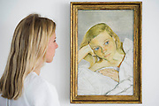 Girl in Bed - Lucian Freud  at Ordovas - Portraits chronicling the relationship of Lucian Freud and Caroline (Lady Caroline Blackwood, his second wife), dating from 1950s. The four paintings on show are - The Sisters, a delicate canvas from 1950, a life-size depiction of Caroline's eye, which is being shown for the first time in the UK and is the earliest work in the exhibition; Girl in Bed; Girl Reading; and Girl by the Sea. They will be on show from 5 June until 1 August.