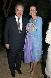 LORD & LADY PALUMBO at the Cartier Chelsea Flower Show dinat the annual Cartier Flower Show Diner held at The Physics Garden, Chelsea, London on 23rd May 2005.<br /><br />NON EXCLUSIVE - WORLD RIGHTS