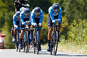 Team Movistar during the Tour de France 2018, Stage 3, Team Time Trial, Cholet-Cholet (35 km) on July 9th, 2018 - Photo Luca Bettini/ BettiniPhoto / ProSportsImages / DPPI