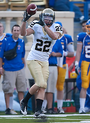 October 10, 2009; San Jose, CA, USA;  Idaho Vandals wide receiver Max Komar (22) makes a reception against the San Jose State Spartans during the first quarter at Spartan Stadium.
