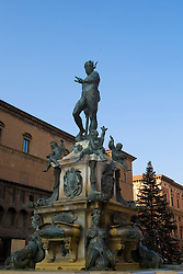 Neptune's Fountain, sculpted in 1566 by Giambologna, Piazza del Nettuno - Bologna, Italy / Italia December 3, 2007.