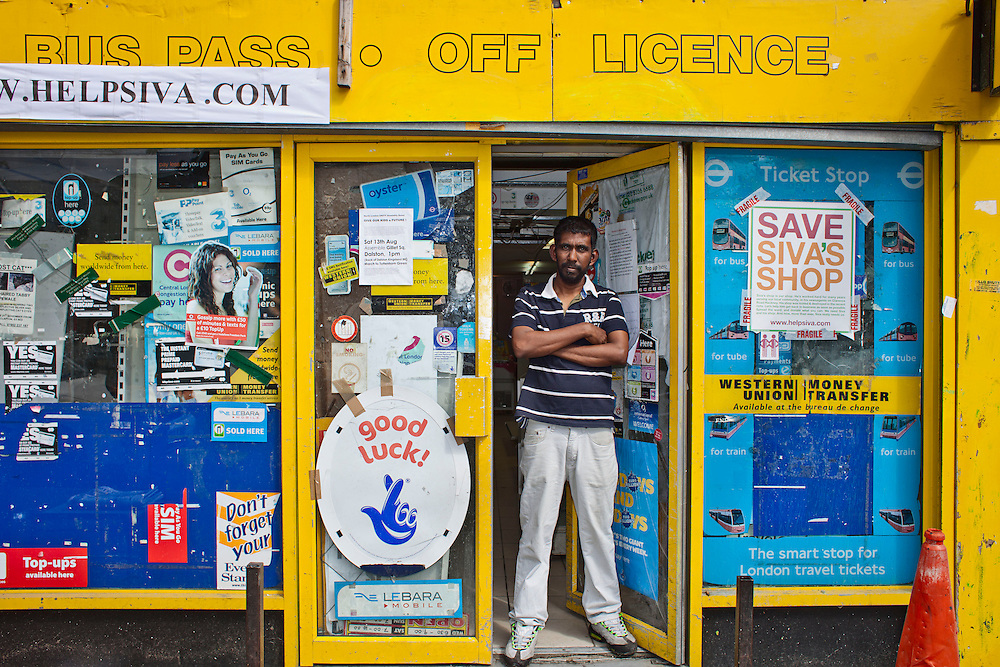 """Sivaharan Kandiah, 39, owner of a convenient store on Clarence Road looted on Monday night: """"I've lost everything. But I'll reopen thanks to the community's support. I don't want them to feel let down by me."""" London, UK. 2011"""