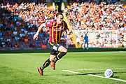 Dylan Connolly of Bradford City chases the ball at pace during the EFL Sky Bet League 2 match between Bradford City and Carlisle United at the Utilita Energy Stadium, Bradford, England on 21 September 2019.